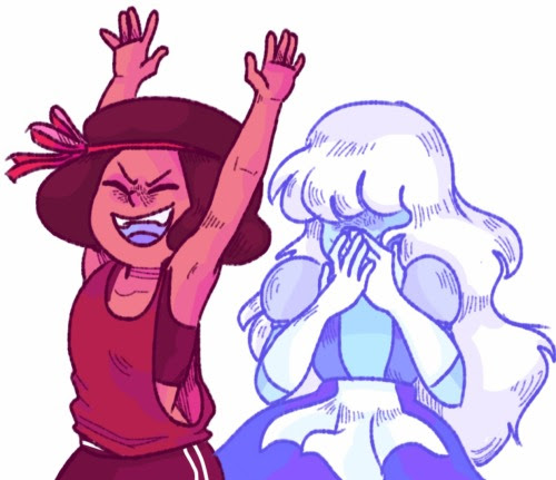 Anonymous said: Could you do Ruby 1D and sapphire 2c, please? Answer: I love their colors,
