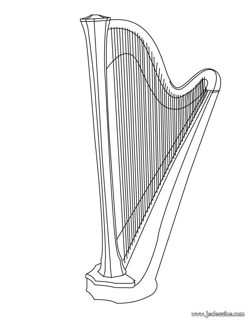 Coloriage d une harpe