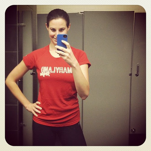 In love with my new @underarmour Terps heat gear shirt. Wore it to lift today and it was awesome! #fitfluential
