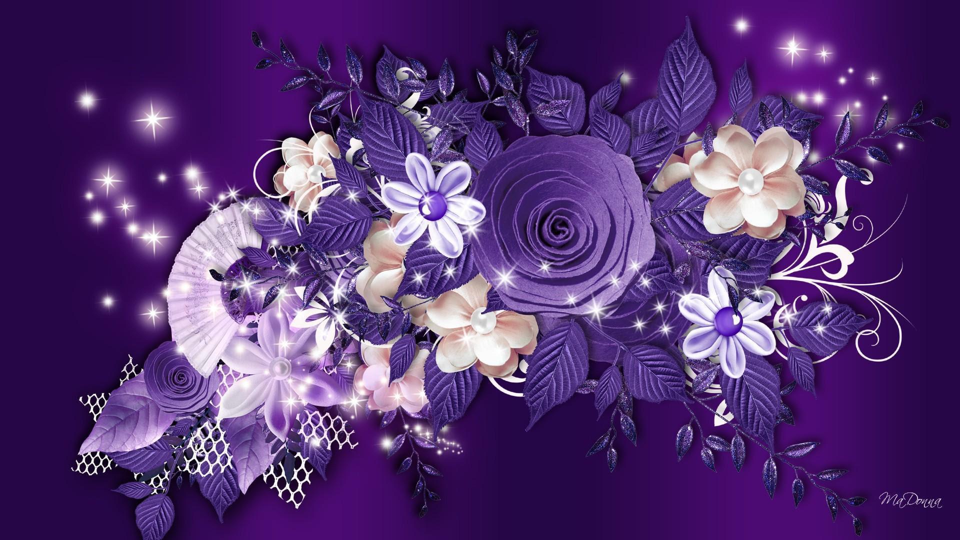 Purple Roses Background Wallpaper - WallpaperSafari