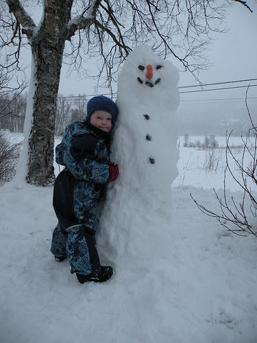 Winters's first snowman
