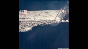 Neil Armstrong en la Luna.