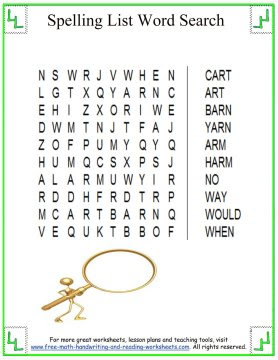 spelling worksheets 6