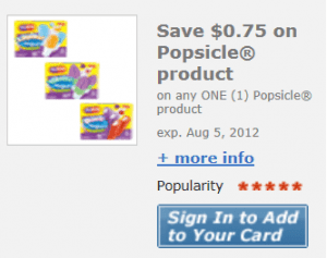 popsicle kroger 300x237 Popsicles only $0.25 at Kroger!