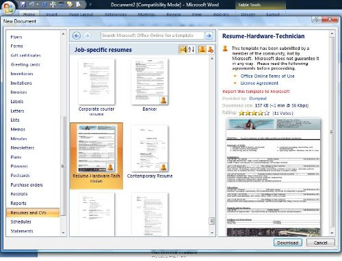 resume templates free. Free resume templates in