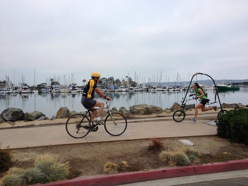 What the ...? A running bicycle? Mind Blown.