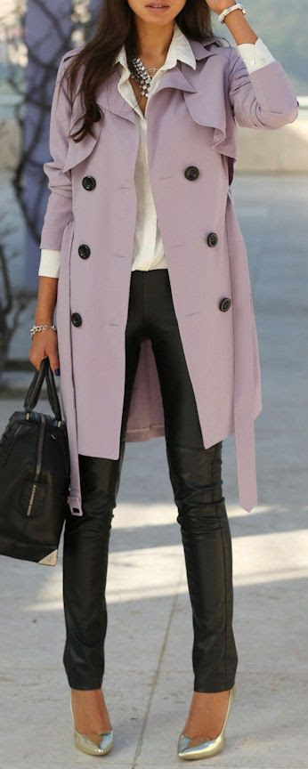 Lavender Trench Coat...adore