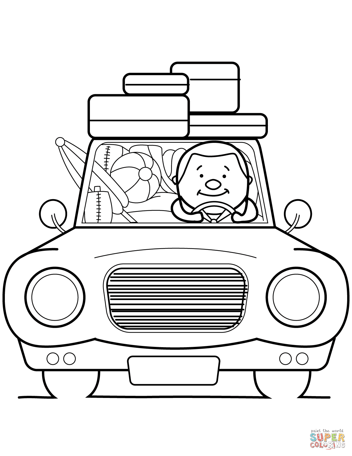 Go Summer Vacation! coloring page | Free Printable ...