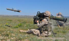 Disparo de misil por el GT Flandes