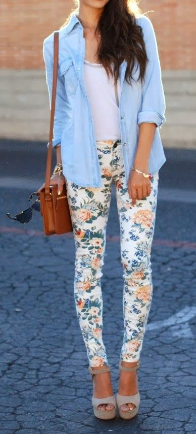 floral print . adorable . outfit ideas