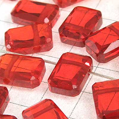 """rt023 Cubic Zirconia Beads - 9 mm Table Cut Rectangle Drop - Hyacinth (1) - <font color=""""#FF0000"""">Discontinued</font> - 70% off!"""
