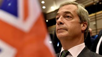 El líder de l'euroescèptic Partit de la Independència del Regne Unit (UKIP), Nigel Farage