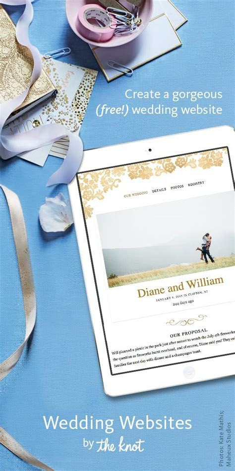 Create a wedding website that matches your own personal