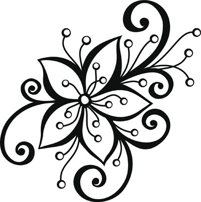 Pictures Of Single Flower Patterns Black And White Wwwkidskunstinfo