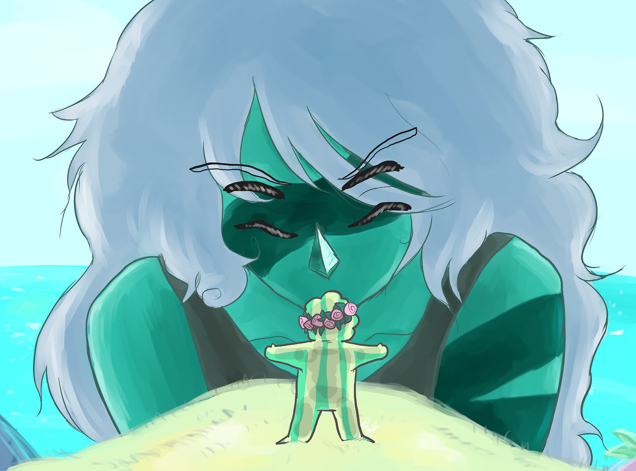 Yet another screenshot redraw from Steven Universe :0 Malachite was cool while she lasted. (Yes I'm aware that I forgot to draw her shackles ;v;)