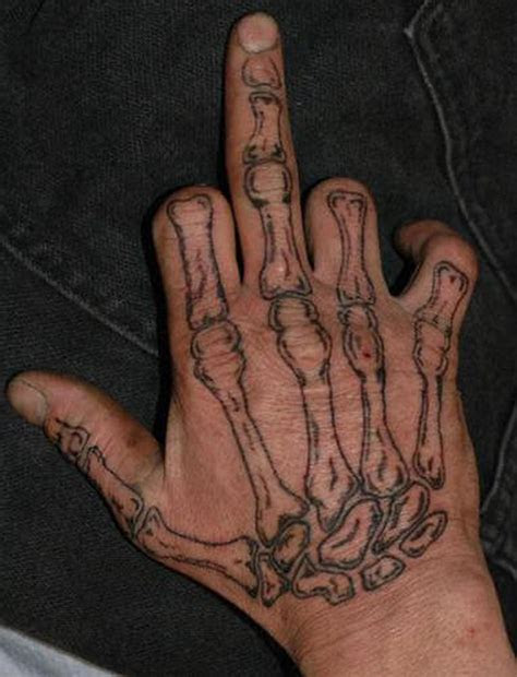 bones hand tattoo design tattoos book tattoos