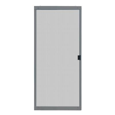 Unique Home Designs 36 in. x 80 in. Standard Grey Metal ...