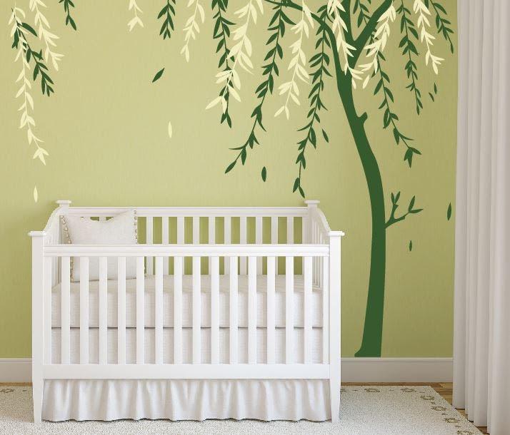 Baby Boy Nursery Ideas Stick on Wall Art Tree by DecaIisland