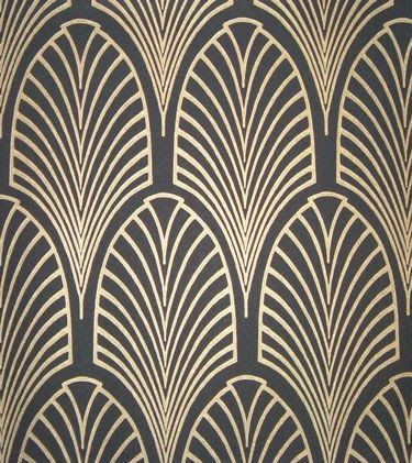 beautiful art deco patterned wall paper