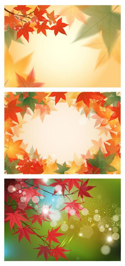 紅葉もみじ秋の背景イメージのイラストaieps ベクタークラブ