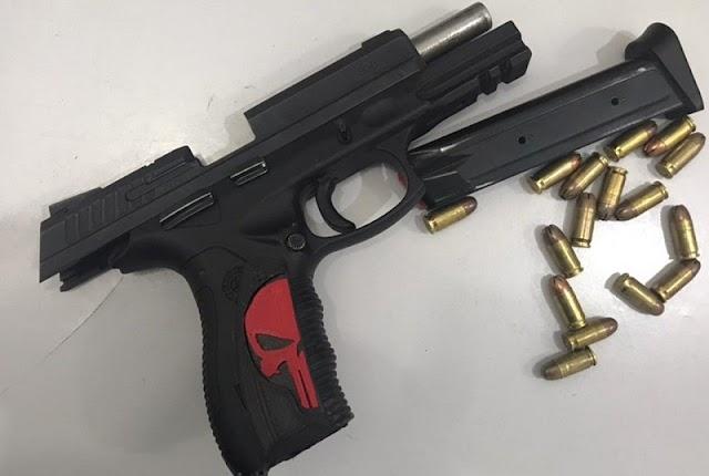 Presidiário com tornozeleira eletrônica é preso pela CAEMA com arma e munições em Teixeira