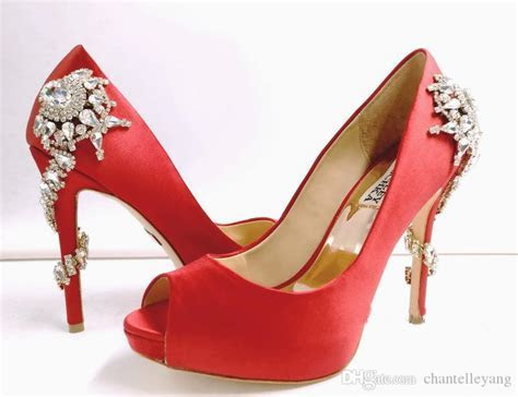 2017 Red/White Designer Shoes For Wedding Silver High Heel