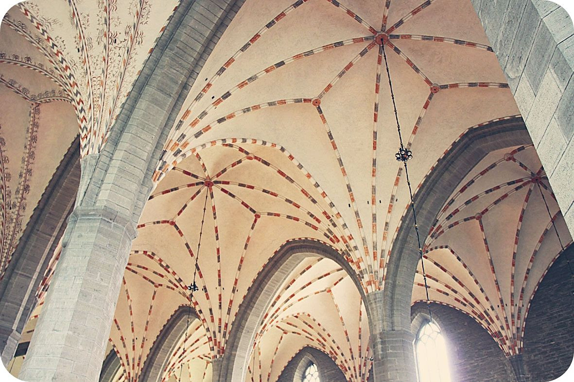 5.29, The church ceiling in Vadstena, Sweden - built in 1430..! Can you believe the skills they had almost 600 years ago?!