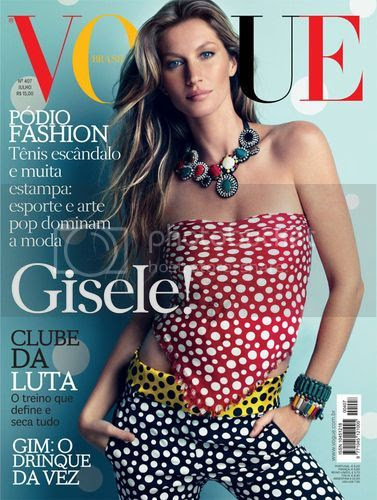 "Gisele Bundchen ""Yayoi Kusama for Louis Vuitton""  Vogue Brazil July 2012"