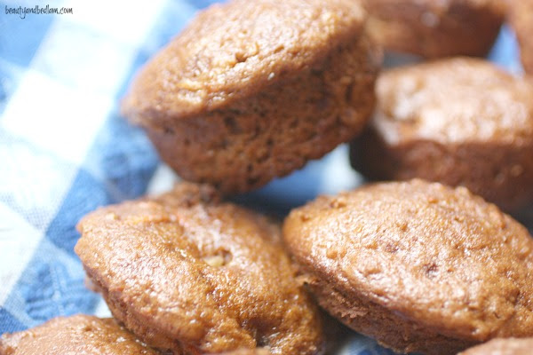 Pineapple Carrot Cake Muffins made with cake mix