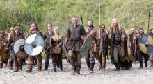 On TV: the series Vikings, which got the men's hair about right. Photograph: History