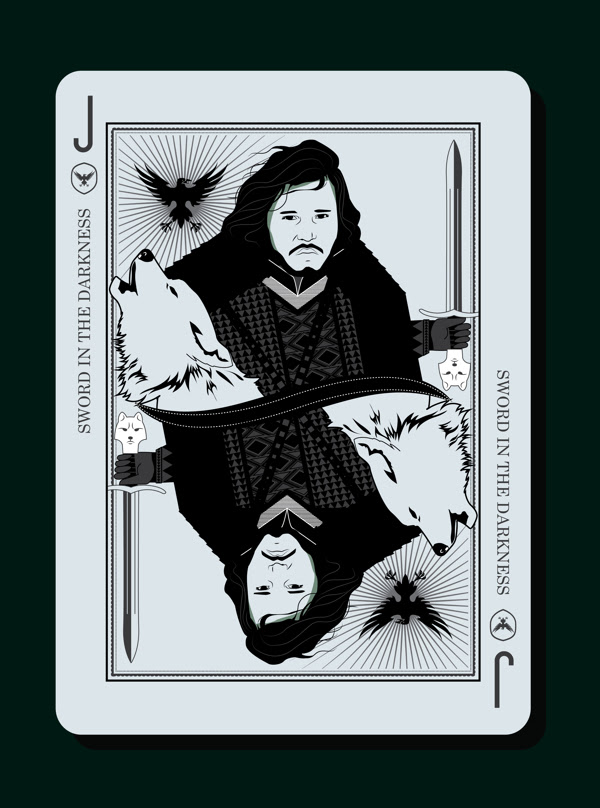 Game of Thrones Playing Card Design