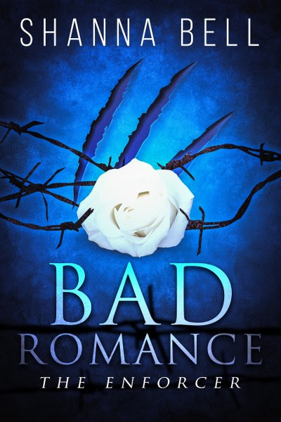 Book Cover for mafia romance The Enforcer from the Bad Romance series by Shanna Bell.