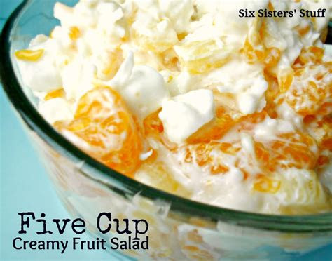 grandmas  cup creamy fruit salad recipe  sisters