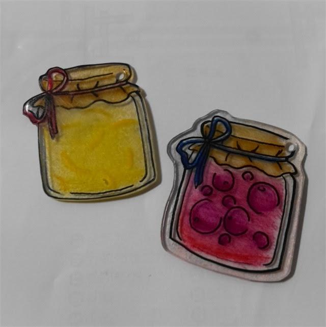 プラバンで二種類のジャム瓶イラストid3205 Myサンホサン宝石の