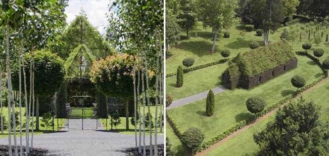 """Homem leva 4 anos para construir incrível """"igreja viva"""" usando árvores"""