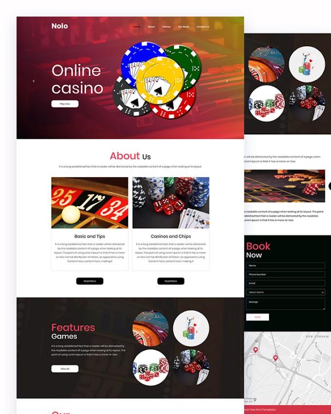 Nolo – Casino Website Html Template