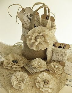 burlap lace wedding bouquets and flowers - Google Search