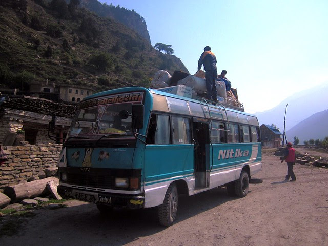 our ride from Jomsom