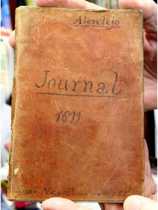 The journal's cover, reading 'journal 1611