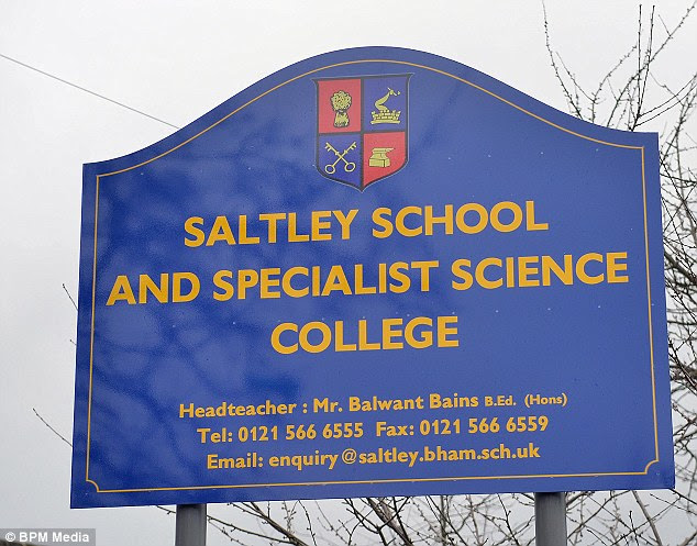 The respected headmaster of Saltley School in Birmingham, Balwant Bains, was allegedly forced out of his job for opposing plans by Muslim governors to scrap sex education lessons and introduce only Halal meat