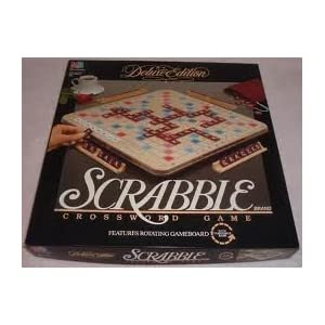 Deluxe SCRABBLE with Rotating Board, Protective Covering