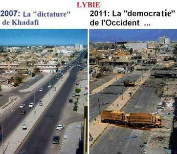 """Résultat de recherche d'images pour """"la libye avant et après"""""""