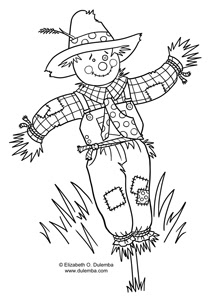 dulemba: Coloring Page Tuesday - Scarecrow!