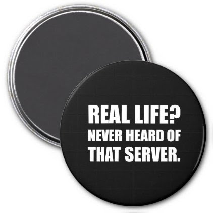 Real Life Never Heard Server Magnet