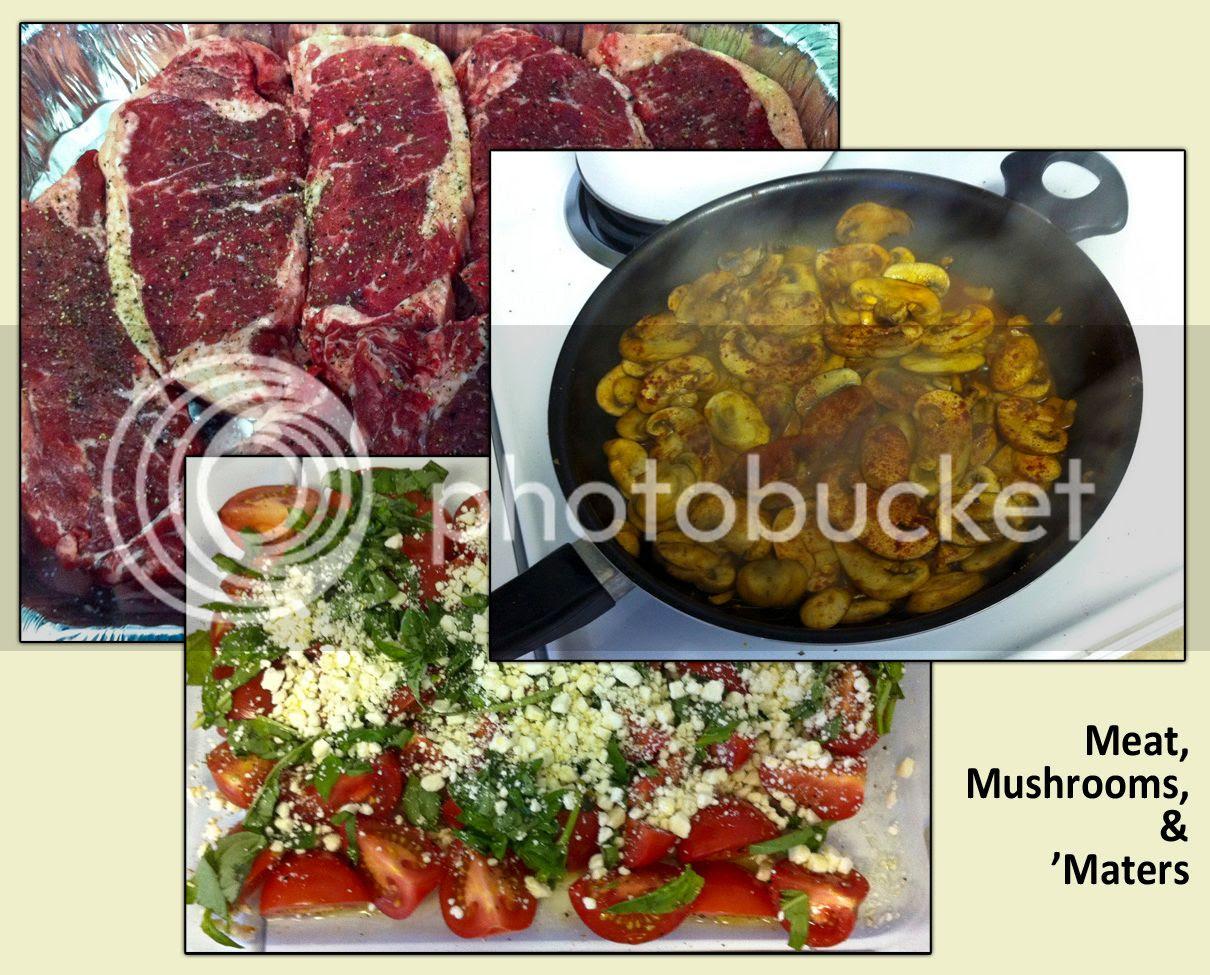 Meat, Mushrooms, & 'Maters