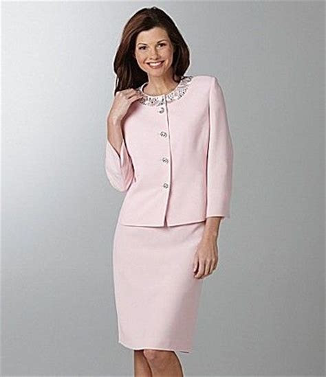 Pastel pink skirt suit adore this so feminine   Pencil
