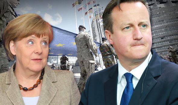 David Cameron e Angela Merkel em Berlim