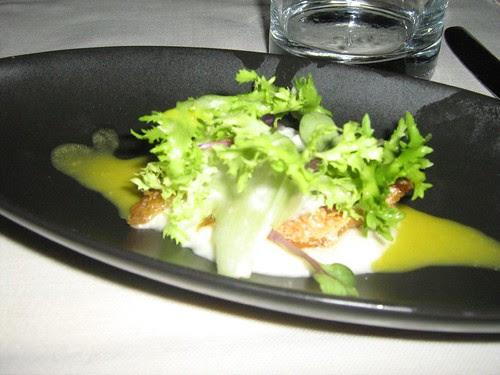 Food at classy Italian restaurant