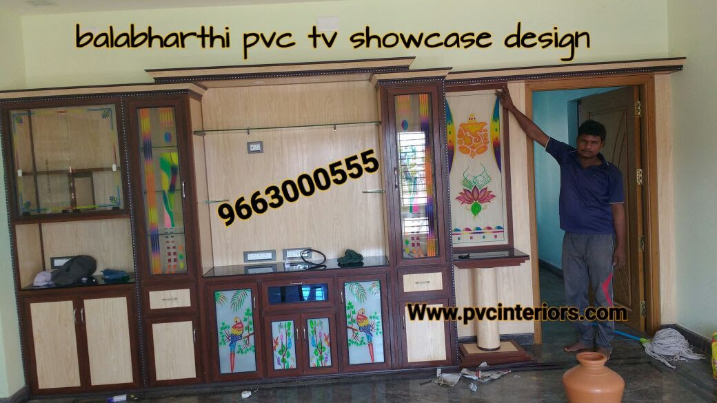 Pvc Tv Showcasetv Cabinet Furniture Online Balabharathi Balabharathi