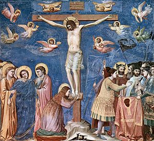 Giotto, fresco from Scrovegni Chapel, Crucifixion